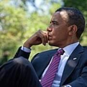 President Barack Obama Is Briefed Poster by Everett