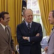 President Ford With Perennial Poster by Everett
