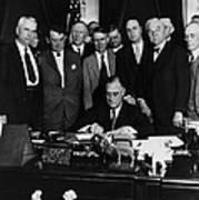 President Franklin D. Roosevelt Seated Poster by Everett
