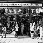Pride Of Scotland Scottish Gifts Shop Princes Street Edinburgh Scotland Uk United Kingdom Poster by Joe Fox