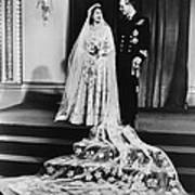 Princess Elizabeth And Prince Philip Poster by Everett