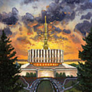 Provo Temple Evening Poster by Jeff Brimley