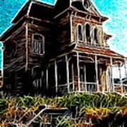Psycho House Poster by Paul Van Scott