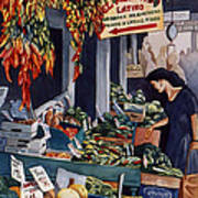 Public Market With Chilies Poster by Scott Nelson