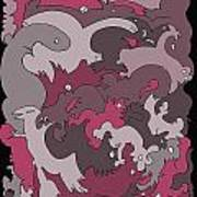 Purple Creatures Poster by Barbara Marcus