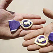Purple Heart Recipients Display Poster by Stocktrek Images