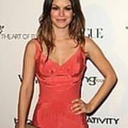 Rachel Bilson Wearing A Zac Posen Dress Poster by Everett