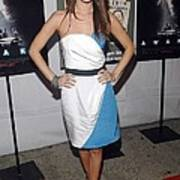 Rachel Bilson Wearing An Abaete Dress Poster by Everett