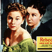 Rebecca, From Left Joan Fontaine Poster by Everett