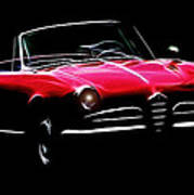 Red Alfa Romeo 1600 Giulia Spider Poster by Stefan Kuhn