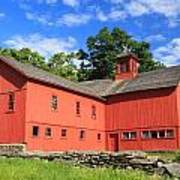 Red Barn At Bryant Homestead Poster by John Burk