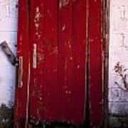 Red Door Poster by Cale Best