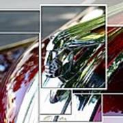 Red Pontiac Hood Ornament Poster by Cathie Tyler