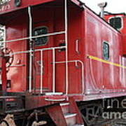 Red Sante Fe Caboose Train . 7d10330 Poster by Wingsdomain Art and Photography