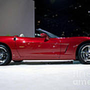 Red Vette Poster by Alan Look