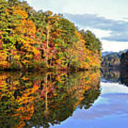 Reflections Of Autumn Poster by Susan Leggett