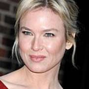Renee Zellweger At Talk Show Appearance Poster by Everett