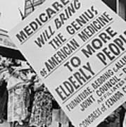 Retired Senior Citizens Carrying Poster by Everett
