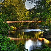 River Walk Bridge Poster by Greg and Chrystal Mimbs
