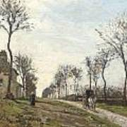 Road In Louveciennes Poster by Camille Pissarro