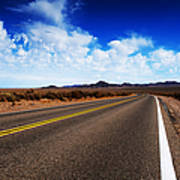 Road Through Rural Area Poster by Jacobs Stock Photography