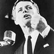 Robert F. Kennedy Making His Acceptance Poster by Everett