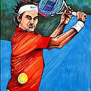 Roger Federer Poster by Dave Olsen