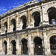 Roman Arena In Nimes France Poster by Elena Elisseeva