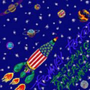 Romney Rocket - Restoring America's Promise Poster by Robert SORENSEN