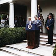 Ronald Reagan. President Reagan Making Poster by Everett