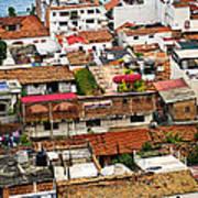 Rooftops In Puerto Vallarta Mexico Poster by Elena Elisseeva
