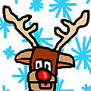 Rudolph's Portrait Poster by Jera Sky