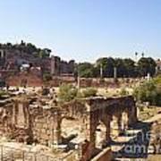 Ruins. Roman Forum. Rome Poster by Bernard Jaubert