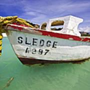 Rustic Fishing Boat Of Aruba II Poster by David Letts