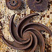 Rusty Gears Poster by Garry Gay