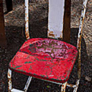 Rusty Metal Chair Poster by Garry Gay