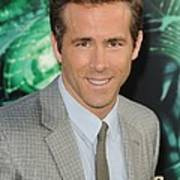 Ryan Reynolds At Arrivals For Green Poster by Everett