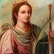Saint Catherine Of Alexandria Painting Poster by Munir Alawi