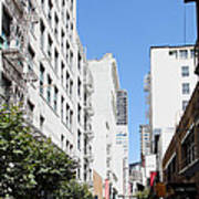 San Francisco - Maiden Lane - Outdoor Lunch At Mocca Cafe - 5d18011 Poster by Wingsdomain Art and Photography