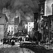San Francisco Burning After 1906 Poster by Science Source