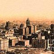 San Francisco Skyline 1909 Showing South Of Market Street Poster by Wingsdomain Art and Photography