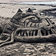 Sand Dragon Sculputure Poster by Garry Gay