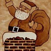 Santa Claus Is Coming Poster by Georgeta  Blanaru