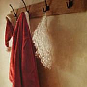 Santa Costume Hanging On Coat Rack Poster by Sandra Cunningham