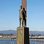 Santa Cruz Surfer Statue Poster by Paul Topp