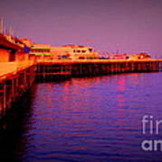 Santa Cruz Wharf Poster by Garnett  Jaeger