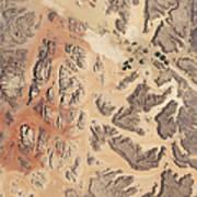 Satellite View Of Wadi Rum Poster by Stocktrek Images