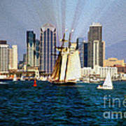 Saturday In San Diego Bay Poster by Cheryl Young