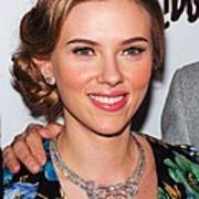 Scarlett Johansson Wearing Van Cleef & Poster by Everett
