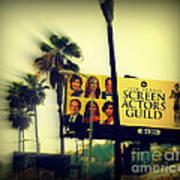 Screen Actors Guild In La Poster by Susanne Van Hulst